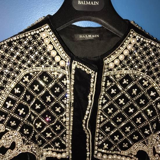 Balmain Balmain Fall 2012 Swarovski Crystal & Pearl Jacket Size US XL / EU 56 / 4 - 7