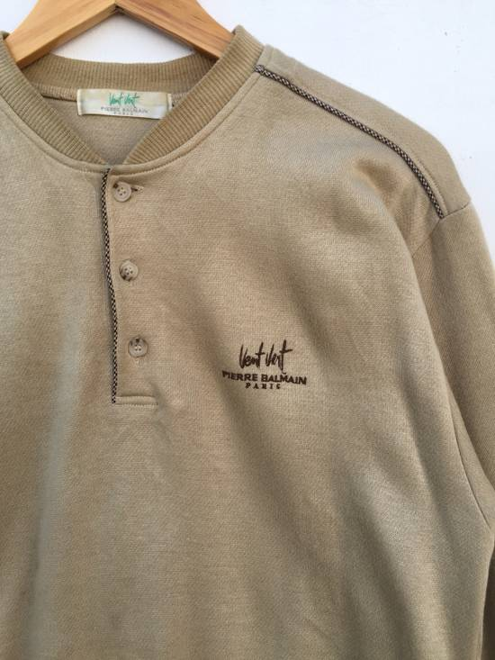 Balmain Original Luxury Pierre Balmain Embroidery Small Logo Sweatshirt / Pierre Balmain Pullover / Pierre Balmain Jacket Luxury Vintage Fashion Style Size US M / EU 48-50 / 2 - 1