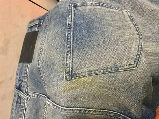Balmain Pierre Balmain Blue Distressed Biker Jeans Size US 31 - 2