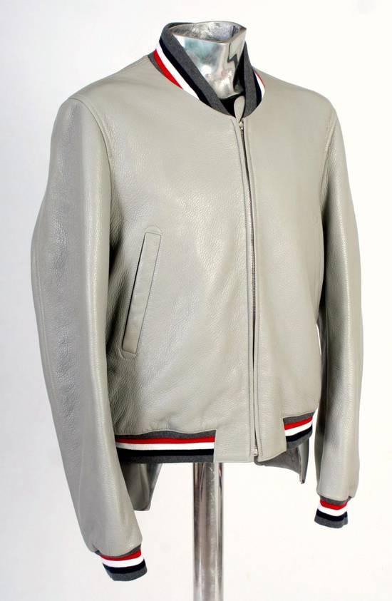 Thom Browne Thom Brown Deerskin Leather Varsity Jacket Grey Size 3 EU50 Medium RRP $3325 Size US M / EU 48-50 / 2 - 9