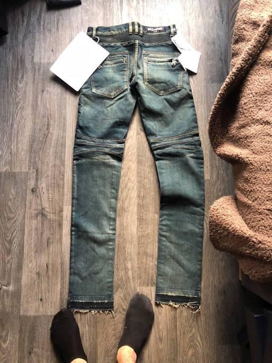Balmain Balmain Authentic $1050 Blue Denim Biker Jeans Size 28 Slim Fit Brand New Size US 28 / EU 44 - 8