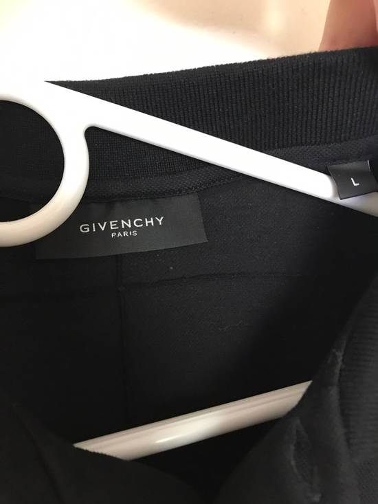 Givenchy Givenchy Polo, Striped Black Grey, Military Patches Flag, Cuban Fit, Size Large, Retail $530 Size US L / EU 52-54 / 3 - 1