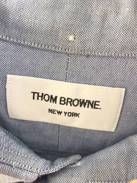 Thom Browne Blue Oxford Shirt Size US L / EU 52-54 / 3 - 4