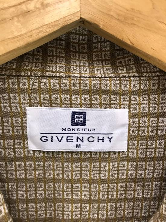 Givenchy Monsieur Givenchy Classic Logos All Over Striped Button Shirt Made in Japan Size US M / EU 48-50 / 2 - 7