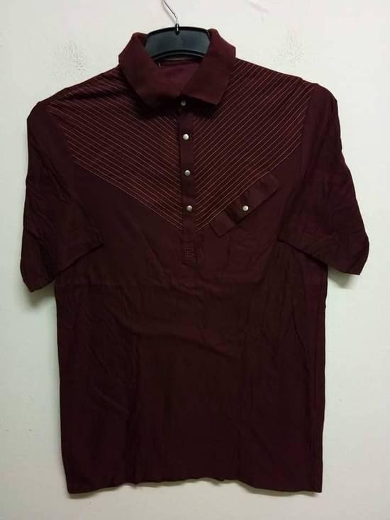 Balmain Stripes Maroon Polo Shirt Size US S / EU 44-46 / 1