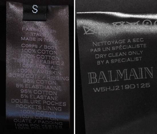 Balmain Original Balmain Leather App Black Men Hooded Sweatshirt Top Jumper in size M Size US M / EU 48-50 / 2 - 8