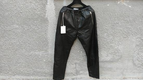Givenchy $2475 Givenchy Lambskin Rottweiler Leather Trousers Trackpants size 50 (M / L) Size US 34 / EU 50