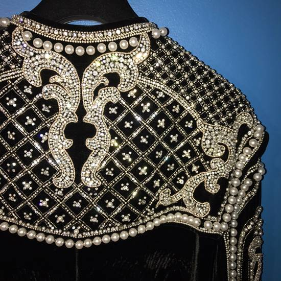 Balmain Balmain Fall 2012 Swarovski Crystal & Pearl Jacket Size US XL / EU 56 / 4 - 11