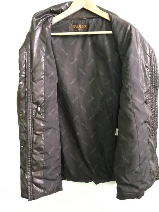 Balmain Puffer Jacket Monogram Bailman Button Up Full Zipper Size US L / EU 52-54 / 3 - 4