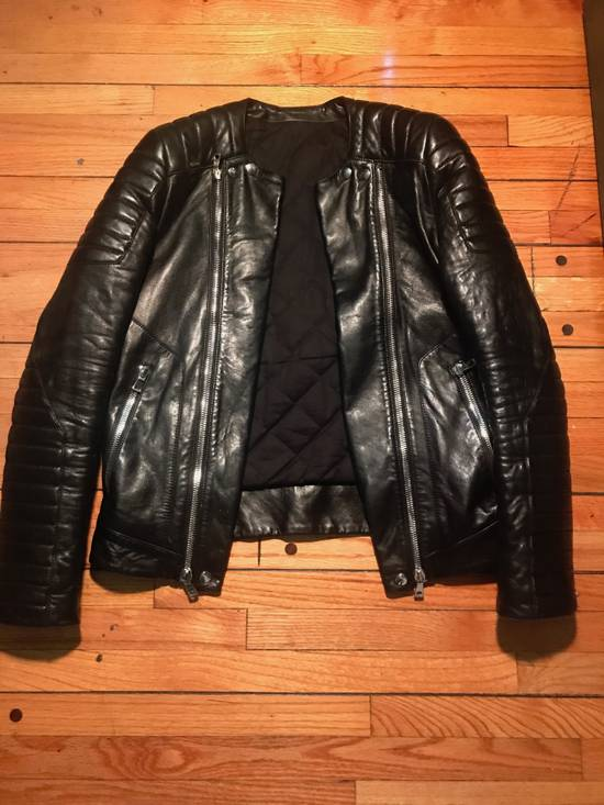 Balmain Quilted Leather Biker Jacket Size US M / EU 48-50 / 2