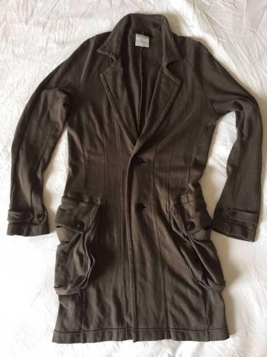 Julius Japan made long jersey oversize Popper fastening Gasmask pocket jacket Size US S / EU 44-46 / 1 - 2