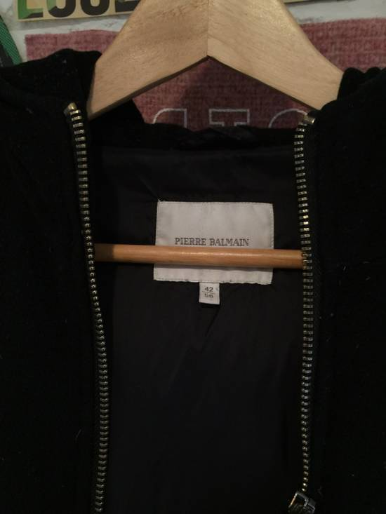 Balmain Hooded Down Wool/Nylon Coat Size US L / EU 52-54 / 3 - 3