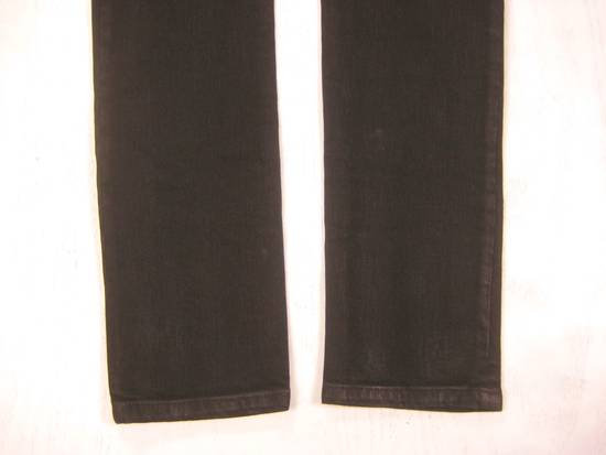 Balmain Classic Moto Jeans Made in Japan Style No. W4HT551C710W Black Coated Skinny Stretch Denim Biker Pants 32 x 32 Size US 32 / EU 48 - 16