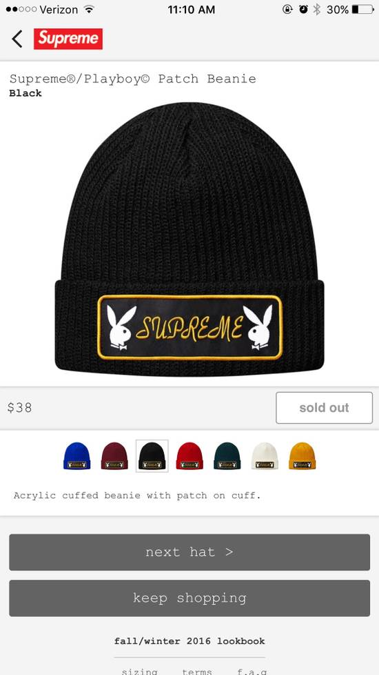 d234f289e55 Supreme Patch Beanie Size one size - Hats for Sale - Grailed