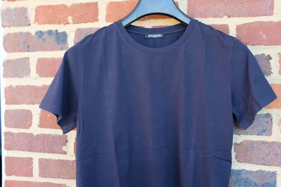Balmain Navy Blue Distressed T-shirt Size US M / EU 48-50 / 2 - 1