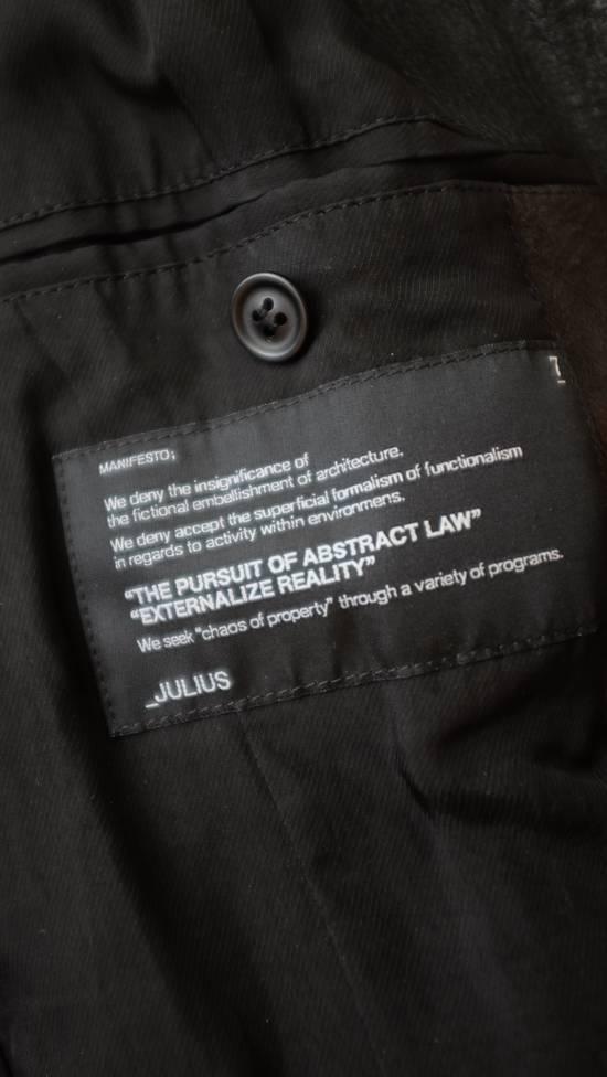Julius 7 Goat High Neck Leather Jacket Size US S / EU 44-46 / 1 - 4