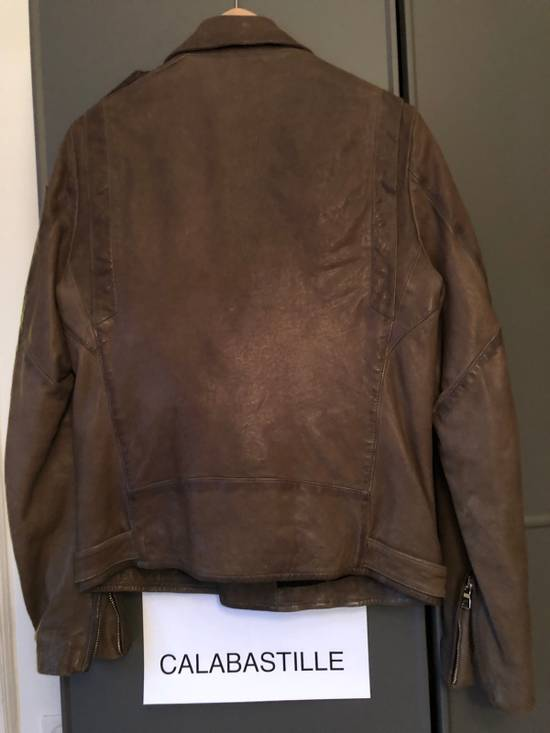 Balmain Leather Motorcycle with embroidered patch Size US M / EU 48-50 / 2 - 4
