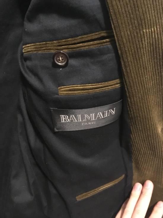 Balmain FW11 Distressed Corduroy Blazer Size 36R - 9