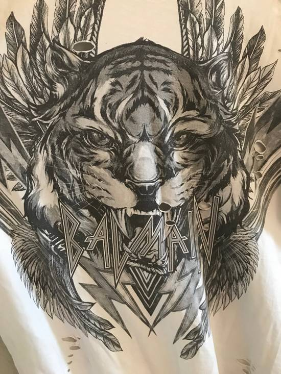 Balmain $505: AW17 Distressed Oversized Tiger Tee Size US S / EU 44-46 / 1 - 1