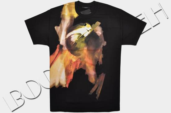 Givenchy Black Cotton Colombian Fit Abstract Paint Tshirt Size US S / EU 44-46 / 1