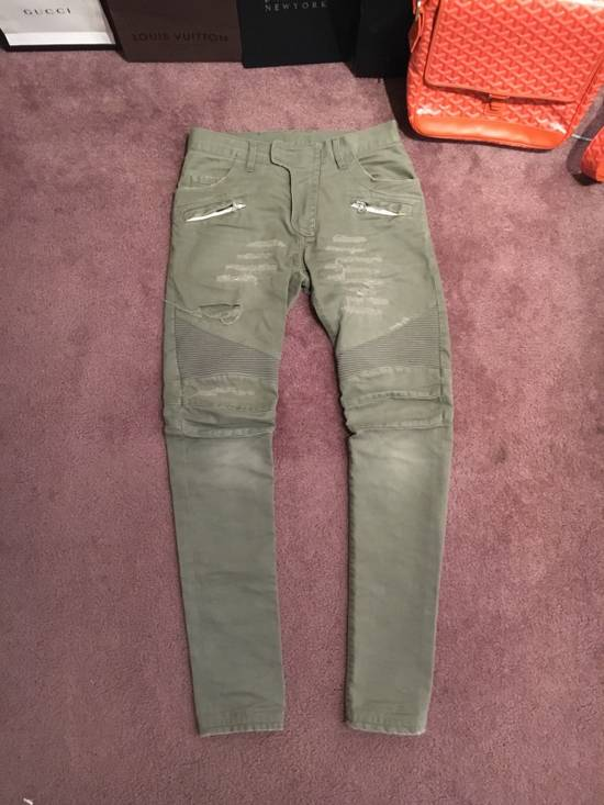 Balmain Distressed Olive Green Balmain Size US 31