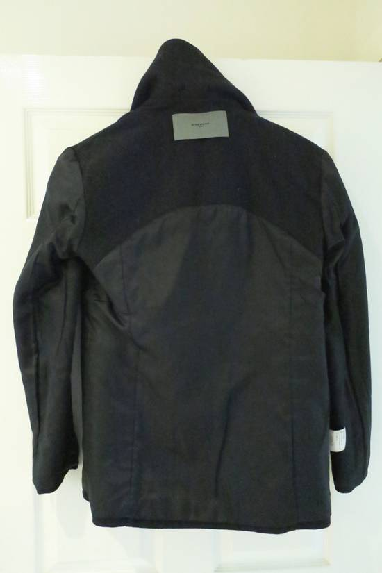 Givenchy BLACK WOOL DOUBLE BREASTED PEA COAT Size US M / EU 48-50 / 2 - 8