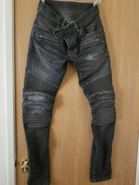 Balmain 14 fw distressed biker jeans Size US 27