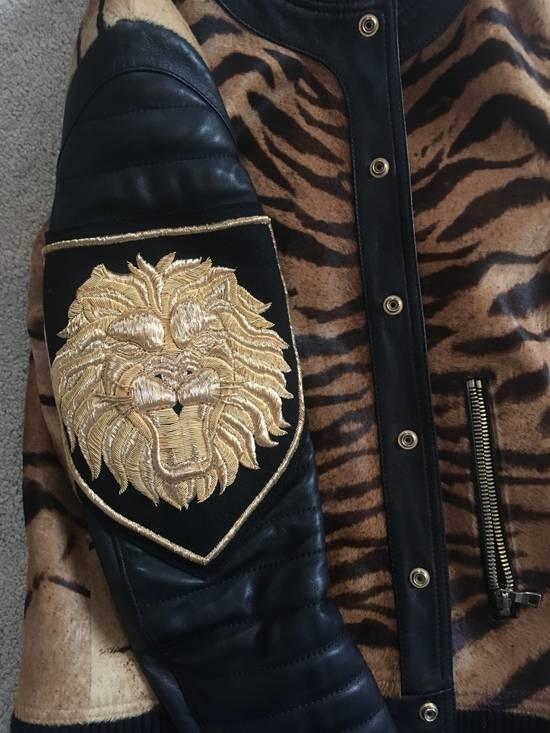 Balmain Rare Tiger Chest Biker Jacket Size US S / EU 44-46 / 1 - 4