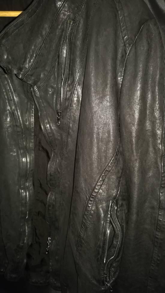 Julius BNWT Size 4 Moldable Collar Leather High Neck Jacket Size US XL / EU 56 / 4 - 4