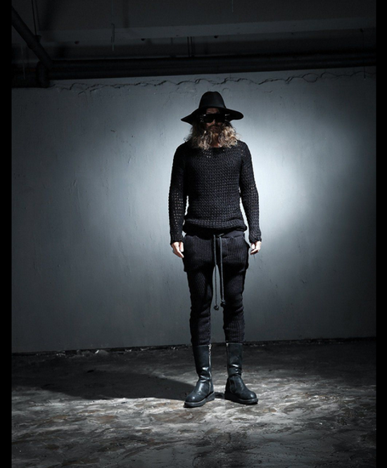 Julius Byther - black julius knit pants - like thom krom, boris bidjan saberi, silent damir doma, rick owens Size US 32 / EU 48 - 2