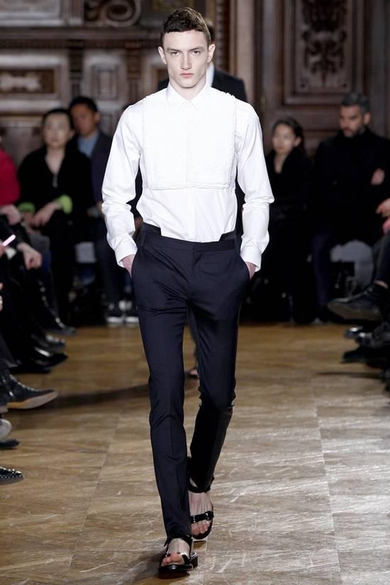Givenchy Givenchy Tuxedo Shirt by Riccardo Tisci 2010 Runway Tuxedo Shirt (brand new) Size US S / EU 44-46 / 1 - 1