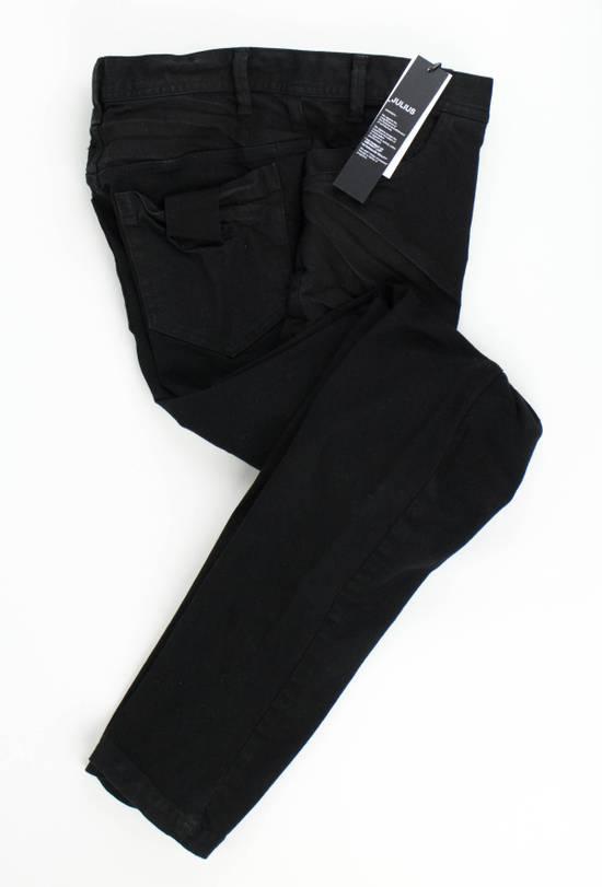 Julius 7 Black Cotton Blend 'Stretch Denim' Jeans Pants Size 4/L Size US 36 / EU 52