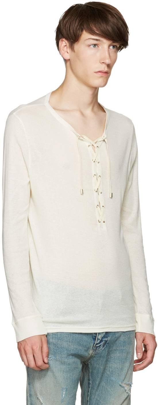Balmain Size Small - Cashmere Blend Lace Front Shirt - FW16 - $625 Retail Size US S / EU 44-46 / 1 - 6