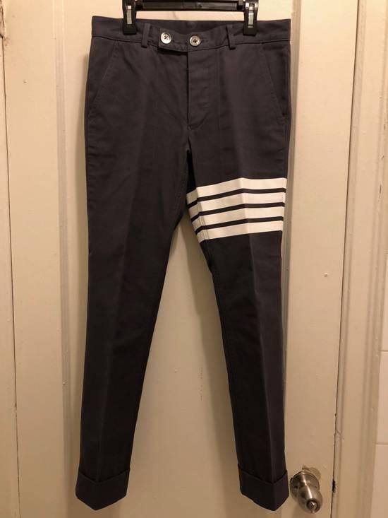 Thom Browne Grey 4-Bar Chinos Size US 28 / EU 44