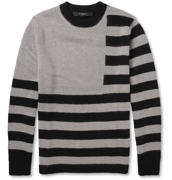 Givenchy Givenchy Striped Stars Wool and Mohair Cuban Fit Knit Sweater size XL (M / L) Size US XL / EU 56 / 4
