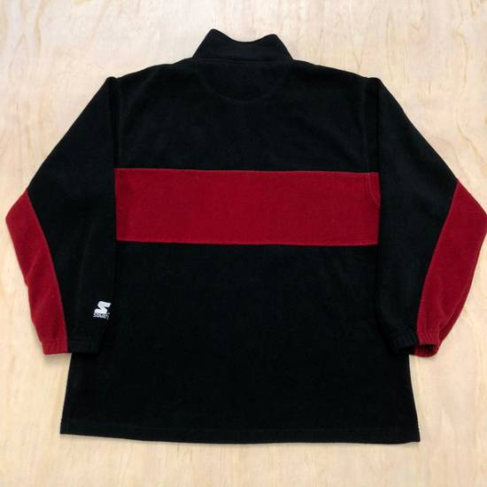 official photos aaef1 1b0cf 90s San Francisco 49ers Fleece Starter 1/4 Zip Pullover Jacket VTG
