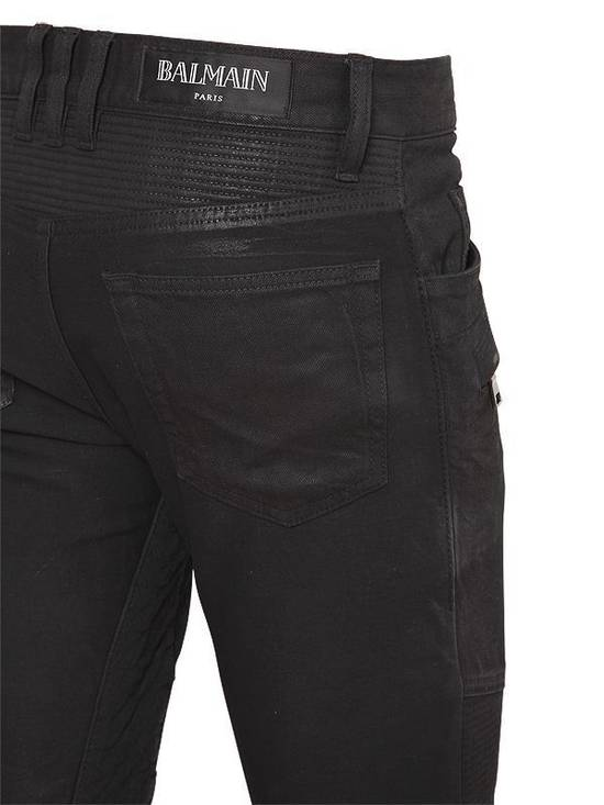Balmain Balmain Black Denim Coated Authentic Biker $1230 Jeans Size 31 Brand New Size US 31 - 1