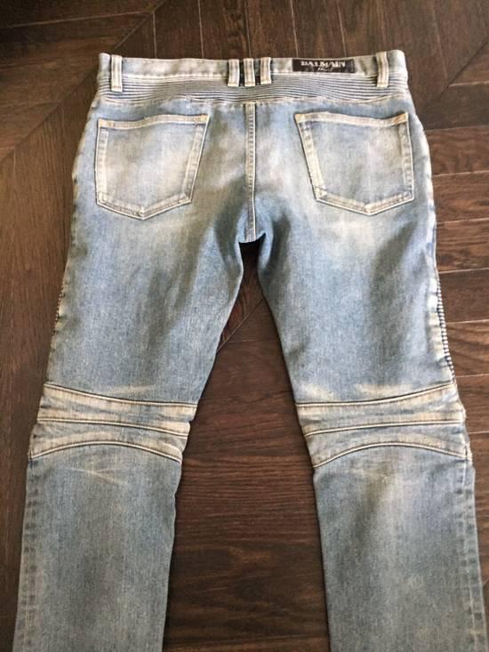 Balmain Balmain Blue Denim Motorcycle Jeans Size US 31 - 6