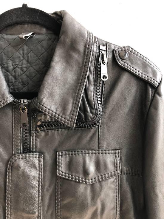 Dior AW05 Dior Homme 'L-Zip' Leather Motorcycle Biker Jacket Sz 50 Size US M / EU 48-50 / 2 - 1