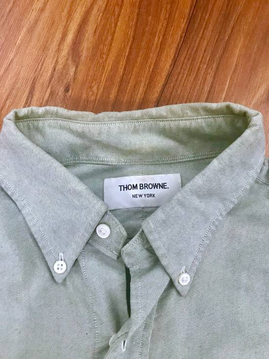Thom Browne Classic Long Sleeve Shirt In Mint Green Size US XL / EU 56 / 4 - 2