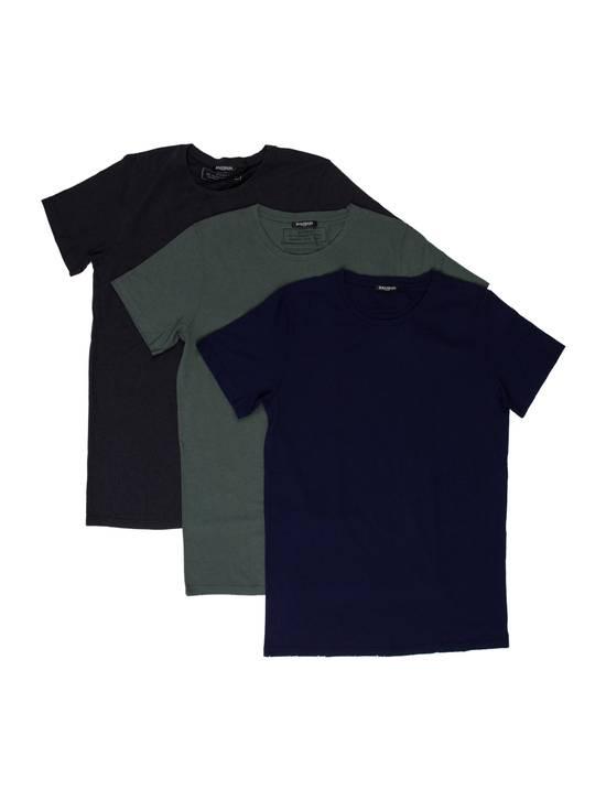 Balmain $650 Balmain Mens Medium (3)Three Pack Wool Teeshirts Blue/ Green/ Gray Italy Size US M / EU 48-50 / 2