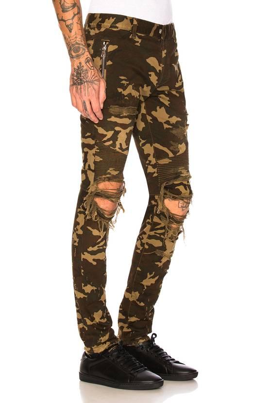 Balmain Size 36 - Heavily Distressed Camo Biker Jeans - FW17 - RARE Size US 36 / EU 52 - 20