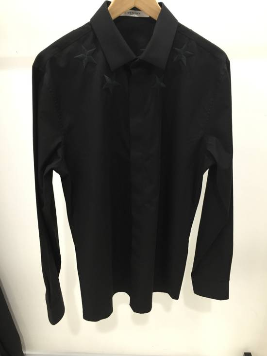 Givenchy Black Embroidered Star Long Sleeve Button Down Shirt Size US L / EU 52-54 / 3