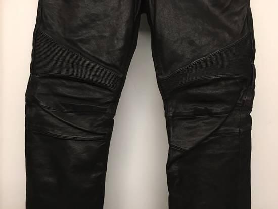 Balmain Brand New Leather Biker Jeans Size US 32 / EU 48 - 2