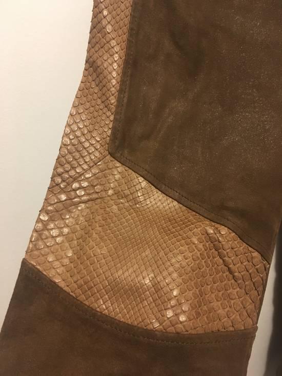 Balmain SS13 Python Leather Biker Pants Size US 30 / EU 46 - 5