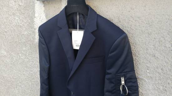 Givenchy $2100 Givenchy Navy Blue Bomber Sleeves Wool Stars Blazer Jacket size 48 (S / M) Size 48S - 6