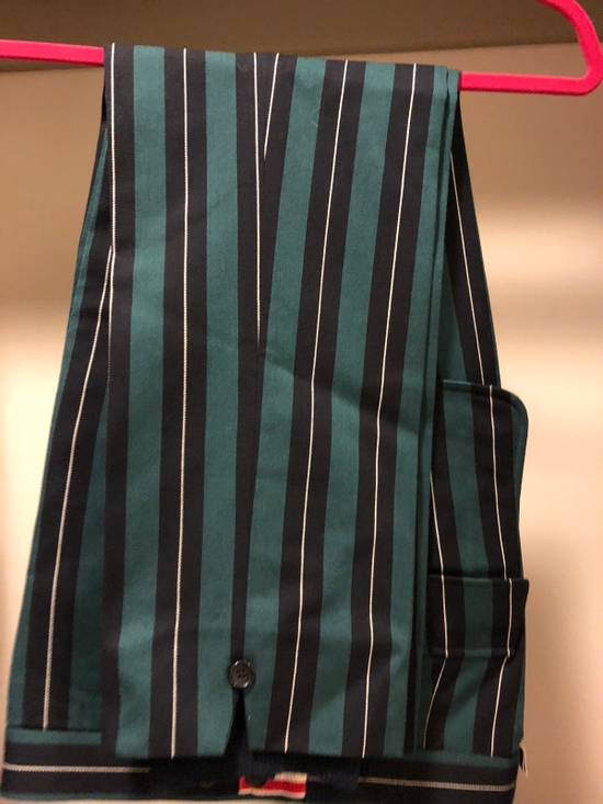 Thom Browne Thom Browne Pinstripe Trousers With Flappy Back Pockets And Cashmere Leg Warmer Size US 30 / EU 46 - 3