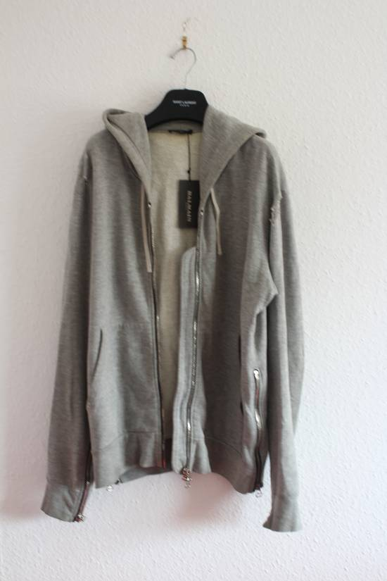Balmain FW10 Decarnin Era Grey Mothhole Destroyed Hoodie Size US XL / EU 56 / 4 - 1