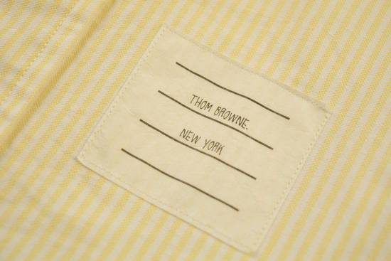 Thom Browne White Grossgrain, Yellow Stripe Oxford Size US L / EU 52-54 / 3 - 5