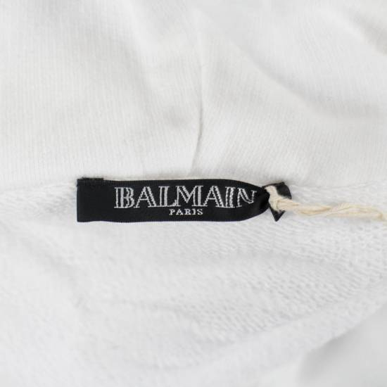 Balmain White Cotton Hooded Sweatshirt Size S Size US S / EU 44-46 / 1 - 3
